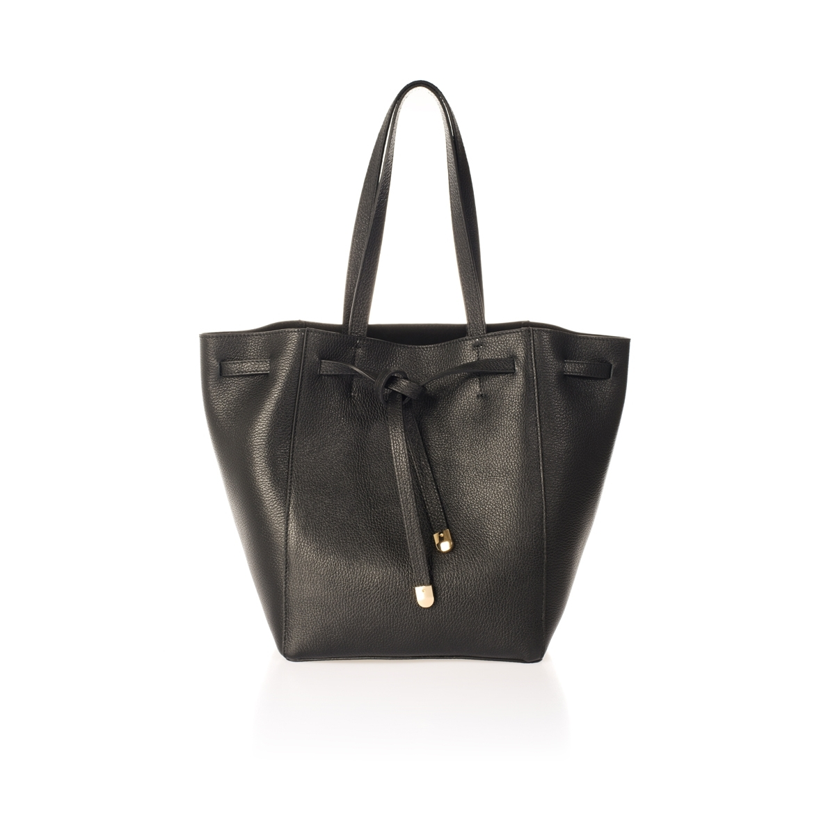FORTUNA・DOLLARO・BLACK Geanta din piele naturala, neagra, 38/30 dollaro, Magrot 512