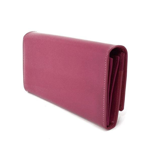 Portofel din piele naturala lacuita, roz , de dama, Beth cat BC51