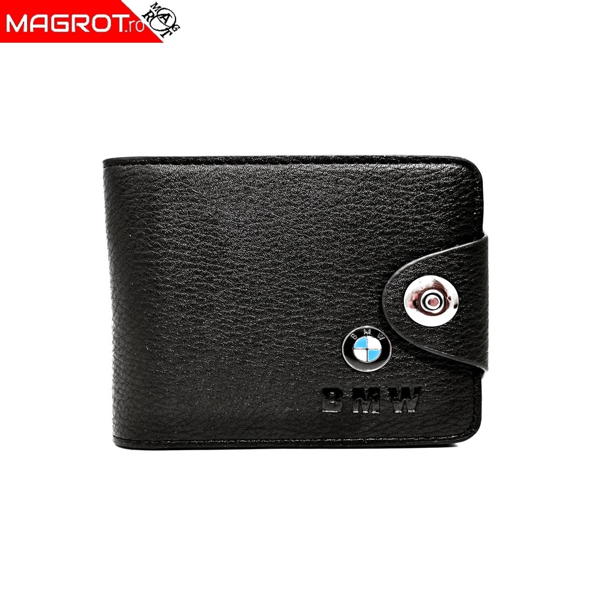 Portofel cu sigla BMW, negru, Magrot 008