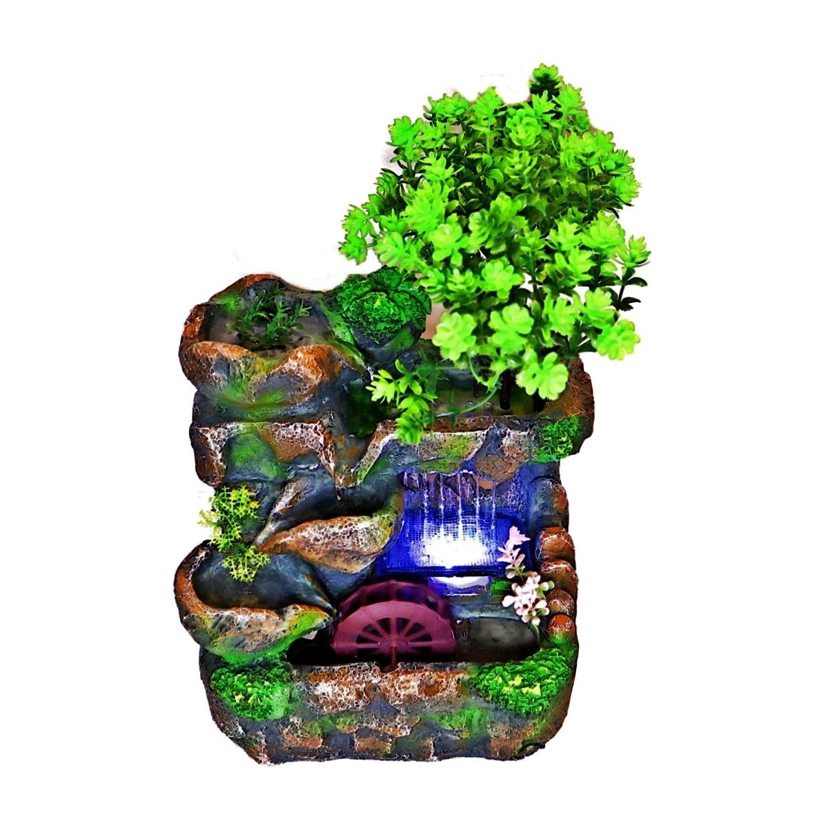 Fantana arteziana de interior, cu moara si leduri, 30 cm, Magrot 020 feng shui