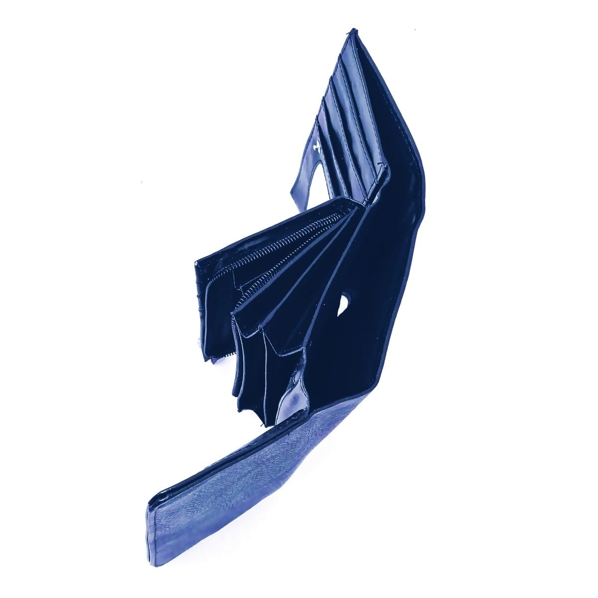 Portofel dama, blumarin, cu buzunar mare lateral pentru bancnote, din piele ecologica, 18/10 cm, Magrot 023