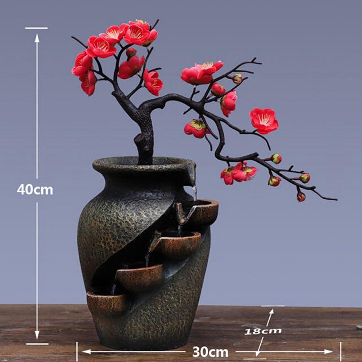 Fantana arteziana de interior, tip vaza cascada, 40 cm, Magrot 052 feng shui