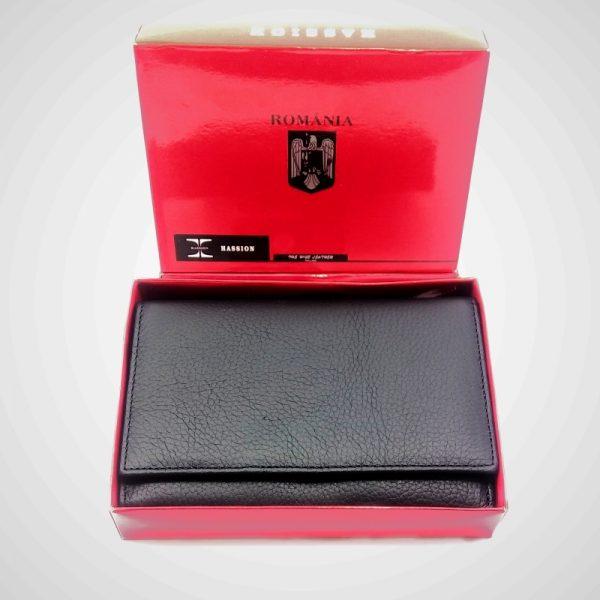 portofel tip carte din piele naturala