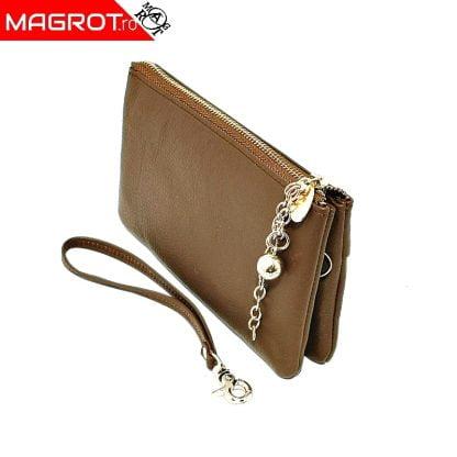 Borseta (portofel) HASSION pentru doamne si domnisoare. Poate fi purtata ca borseta de mana sau ca portofel.