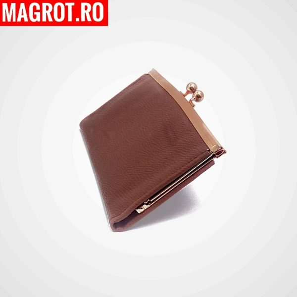 portofel clips maro 1