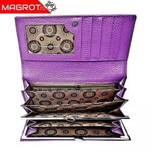 Portofel dama din piele naturala,Qianxilu, mov, este un portofel original QIAN XI LU realizat din materiale de cea mai buna calitate, ergonomic si care se preteaza utilizarii de zi cu zi.
