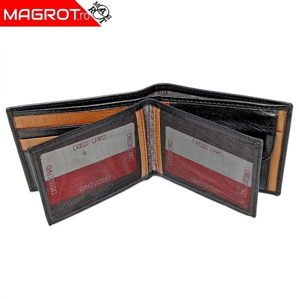 Portofel din piele slim 93.Portofel barbatesc Canpel, din piele, negru. Este produs in Turcia de firma Canpel.