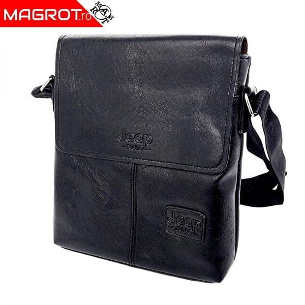 Geanta Jeep Buluo neagra este o geanta (borseta) de umar foarte bine lucrata care poate fi folosita zi de zi si care va permite datorita compartimentari sa va organizati lucrurile functie de necesitati.