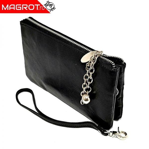Borseta dama black (portofel) originala \Hassion Poate fi purtata ca borseta de mana sau ca portofel.Poate fi un cadou frumos si util
