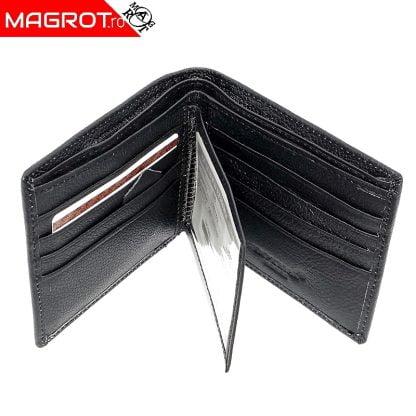 Portofel din piele barbatesc, Horse imperial, negru fara capsa, 715 este un portofel rezistent, modern, realizat din materiale de calitate.