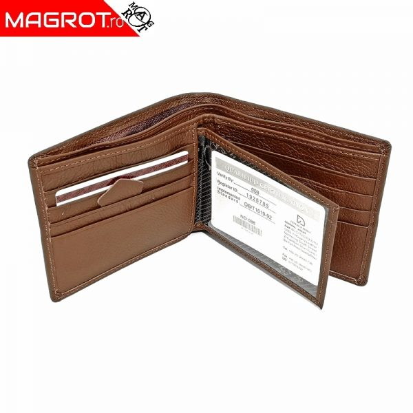Portofel din piele barbatesc, Horse imperial, maro fara capsa, 715 este un portofel rezistent, modern, realizat din materiale de calitate.
