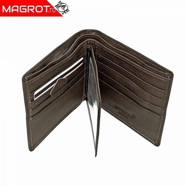 Portofel din piele barbatesc, Horse imperial, brun fara capsa, 715 este un portofel rezistent, modern, realizat din materiale de calitate.