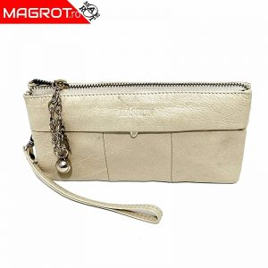 Borseta portofel din piele naturala bejHASSION pentru doamne si domnisoare. Poate fi purtata ca borseta de mana sau ca portofel.