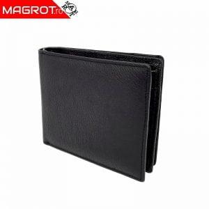 Portofel barbatesc 622 negru din piele naturala fara capsa. Este un portofel cu doua zone pentru o organizare mai buna.