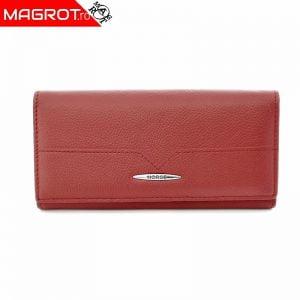 Portofel rosu Horse 30001 (rosu pal inchis) din piele naturala HORSE Imperial este un portofel de dama foarte incapator si usor de folosit.