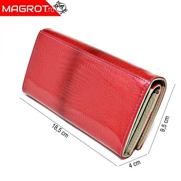 Portofel roz 1041 pink din piele naturala lacuita, original Qian, este un portofel modern,poate fi purtat zi de zi sau la ocazii. Vezi OFERTA