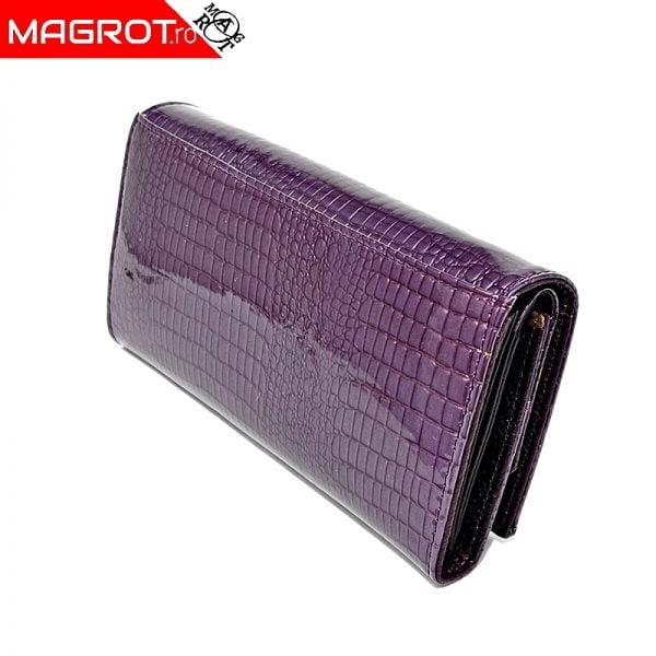 Portofel mov 1041 purple din piele naturala lacuita, original Qian, este un portofel modern,poate fi purtat zi de zi, la ocazii. Vezi OFERTA