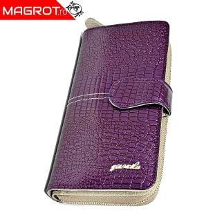Portofel dama 1051 purple din piele naturala lacuita, original Qian, un portofel modern,,poate fi purtat zi de zi sau la ocazii. Vezi OFERTA
