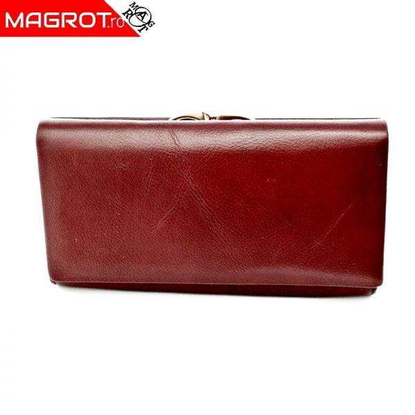 Portofel dama A-03 purpleish red original Hassion cu doua zone distincte din piele naturala veriabila. Este un portofel spatios.Vezi oferta