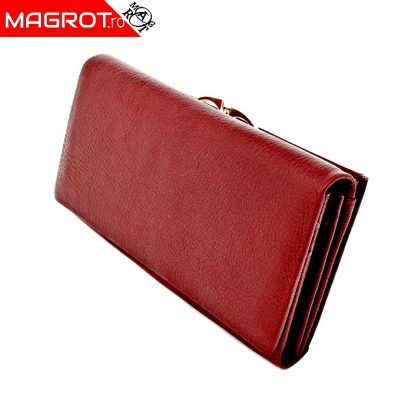 Portofel dama A-03 red original Hassion cu doua zone distincte din piele naturala veriabila. Este un portofel spatios.Vezi oferta