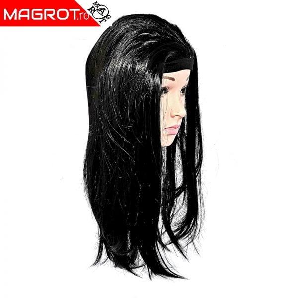 Peruca neagra foarte apropiata de parul natural, nimeni nuse va observa ca purtati o peruca.Material de calitate. Vezi oferta!!!