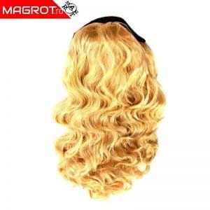 Peruca buclata blond auriu