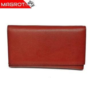 Portofel dama, din piele naturala, J016 Red, Magrot Hasssion.