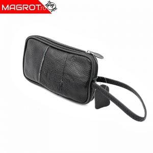 Borseta mica de mana, Magrot, din piele naturala, neagra 2305
