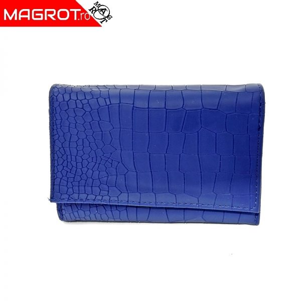 Portofel dama mic 736, magrot, albastru, buzunar mare lateral