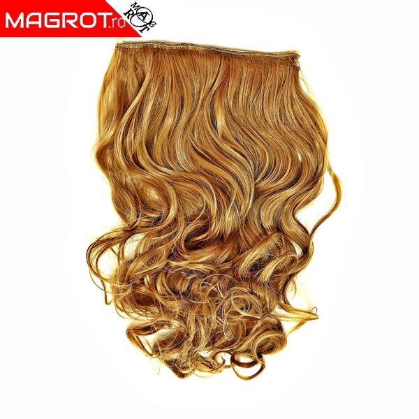 Extensie, semi peruca par, blond auriu cenusiu, sistem 5 clips-on, KRM 250