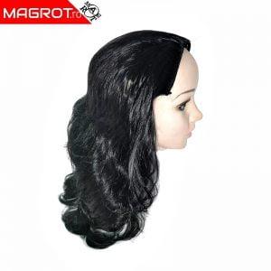Extensie, semi peruca par, negru, sistem 5 clips-on, KRM 250