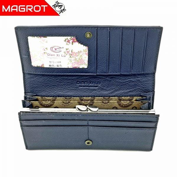 Portofel de dama dei piele naturala, imperial blumarin, Magrot 48