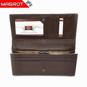 Portofel dama, Imperial, maro din piele naturala, Magrot 749