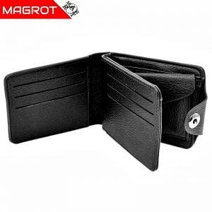 Portofel BMW barbatesc, negru, din piele. Magrot 874
