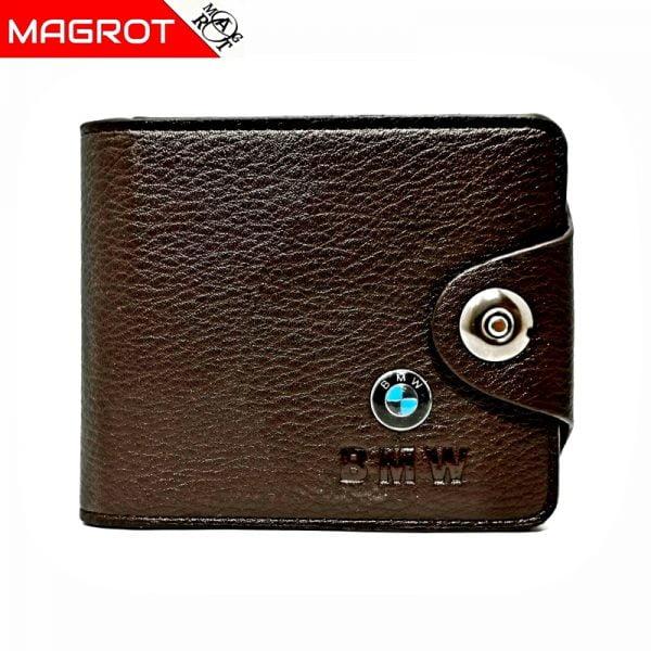 Portofel BMW barbatesc, maro, din piele, MAGROT 875