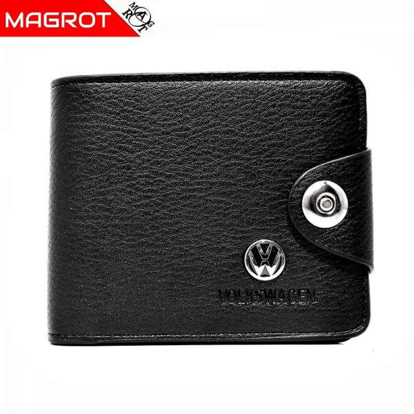 Portofel Volkswagen barbatesc, negru, din piele, MAGROT 876