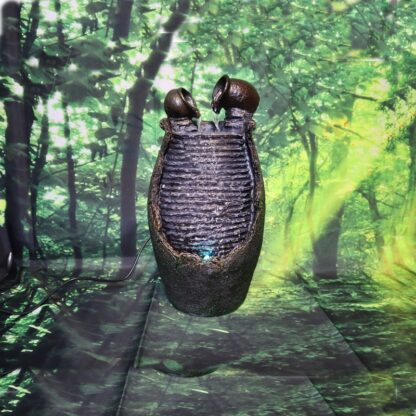 Fantana arteziana, tip cascada de interior 36 cm, Magrot 006 feng shui doua ulcioare